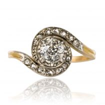 Bague tourbillon ancienne diamants