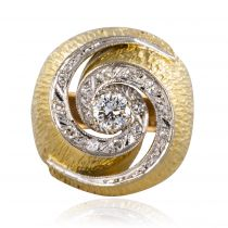Bague tourbillon diamants vintage