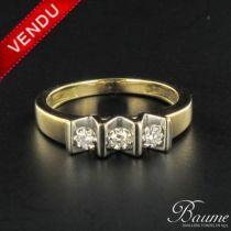 Bague trilogy de diamants