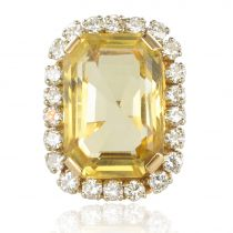 Bague vintage citrine et diamants
