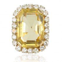 Bague vintage citrine et diamants