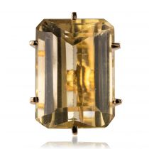 Bague vintage de cocktail citrine