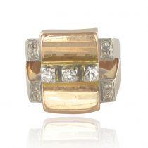 Bague vintage diamants géométrique