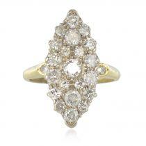 Bague vintage marquise diamants
