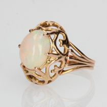 Bague vintage opale et or rose