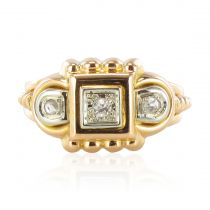 Bague vintage tank diamants