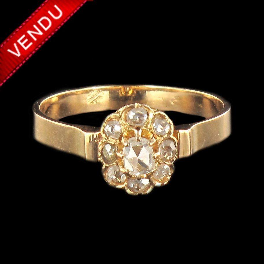 Bague XIXème diamants