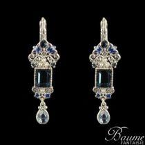 Boucle d 'oreille fantaisie, Pendantes Perles, Cristaux de Swarovski, Email