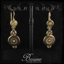 Boucles d 'oreilles anciennes Perles et émail