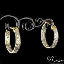 Boucles d 'oreilles créoles diamants 2 ors