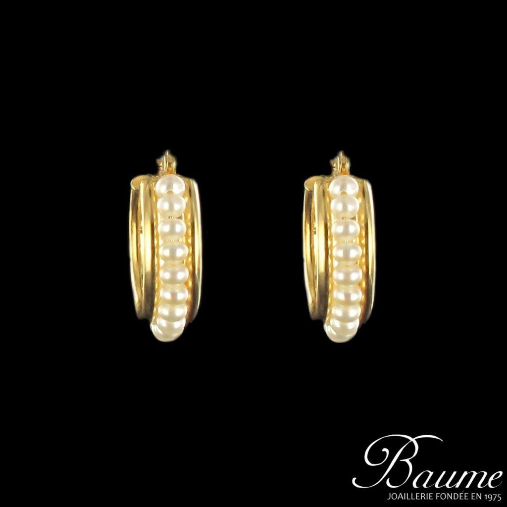 Boucles d 'oreilles créoles perles