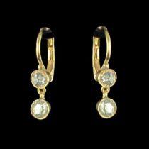 Boucles d 'oreilles diamant anciennes