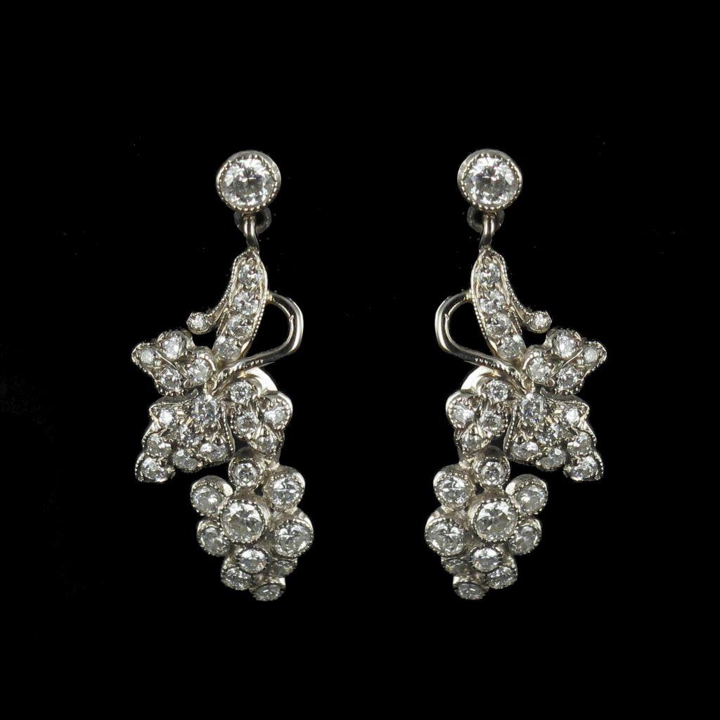 Boucles d 'oreilles Diamants Grappes de raisins 06-119
