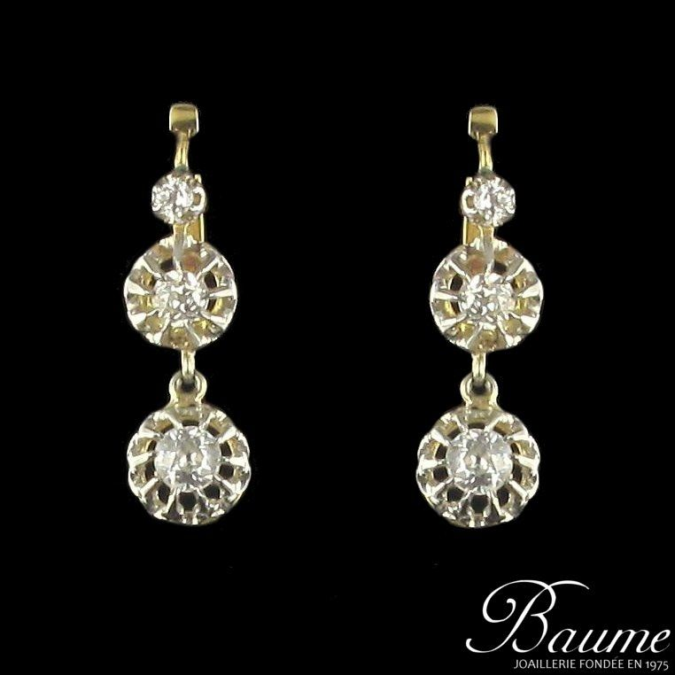 Boucles d 'oreilles diamants pendantes