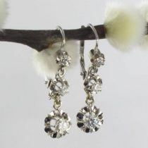 Boucles d 'oreilles diamants trembleuses