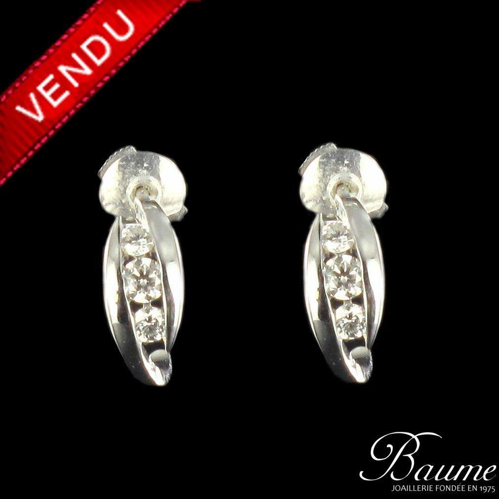 boucles d 39 oreilles diamants trilogie boucle d 39 oreille. Black Bedroom Furniture Sets. Home Design Ideas