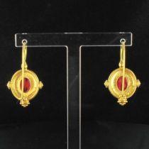 Boucles d 'oreilles Etrusques dormeuses