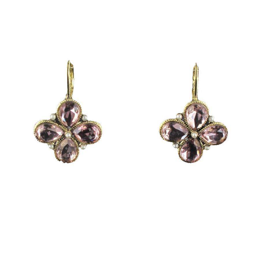 boucles d 39 oreilles tr fle fantaisie dormeuse perles cristaux. Black Bedroom Furniture Sets. Home Design Ideas