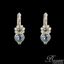 Boucles d 'oreilles fantaisie, Dormeuses Perles et Cristaux de Swarovski