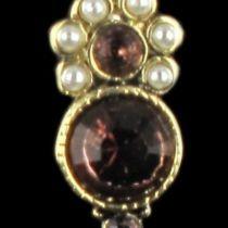 Boucles d 'oreilles fantaisie, Puces Perles et Cristaux de Swarovski