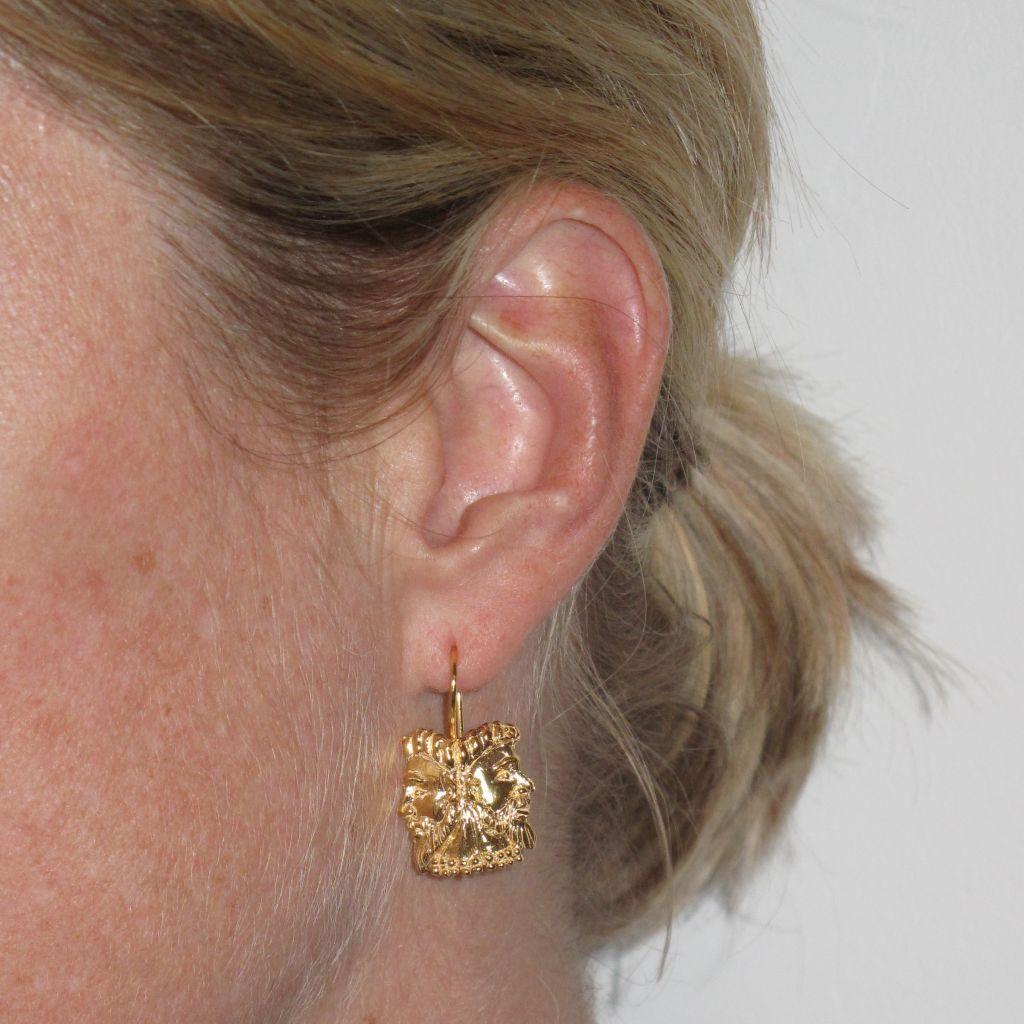 boucles d 39 oreilles or argent masques bijouxbaume. Black Bedroom Furniture Sets. Home Design Ideas