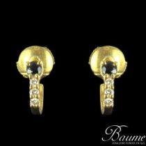 Boucles d 'oreilles or saphir et diamants
