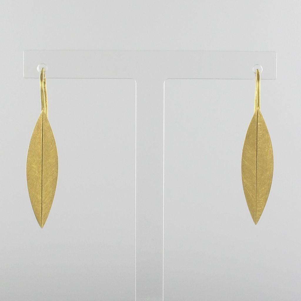Boucles d 'oreilles plumes d 'or