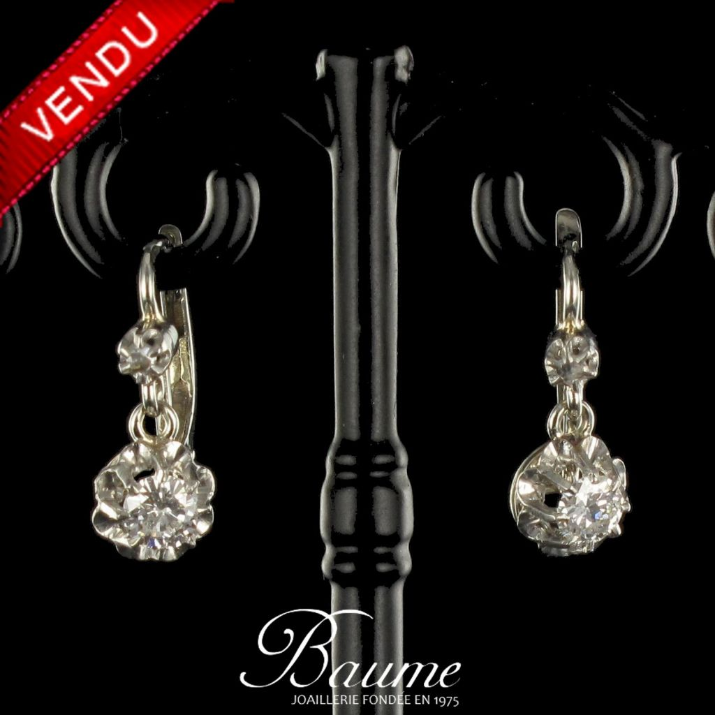 Boucles d 'oreilles Trembleuses Diamants