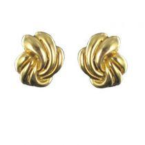 Boucles d 'oreilles tresse d 'or