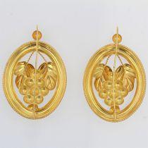 Boucles d\'oreilles anciennes en or Créoles