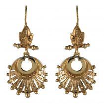 Boucles d\'oreilles anciennes pendantes or