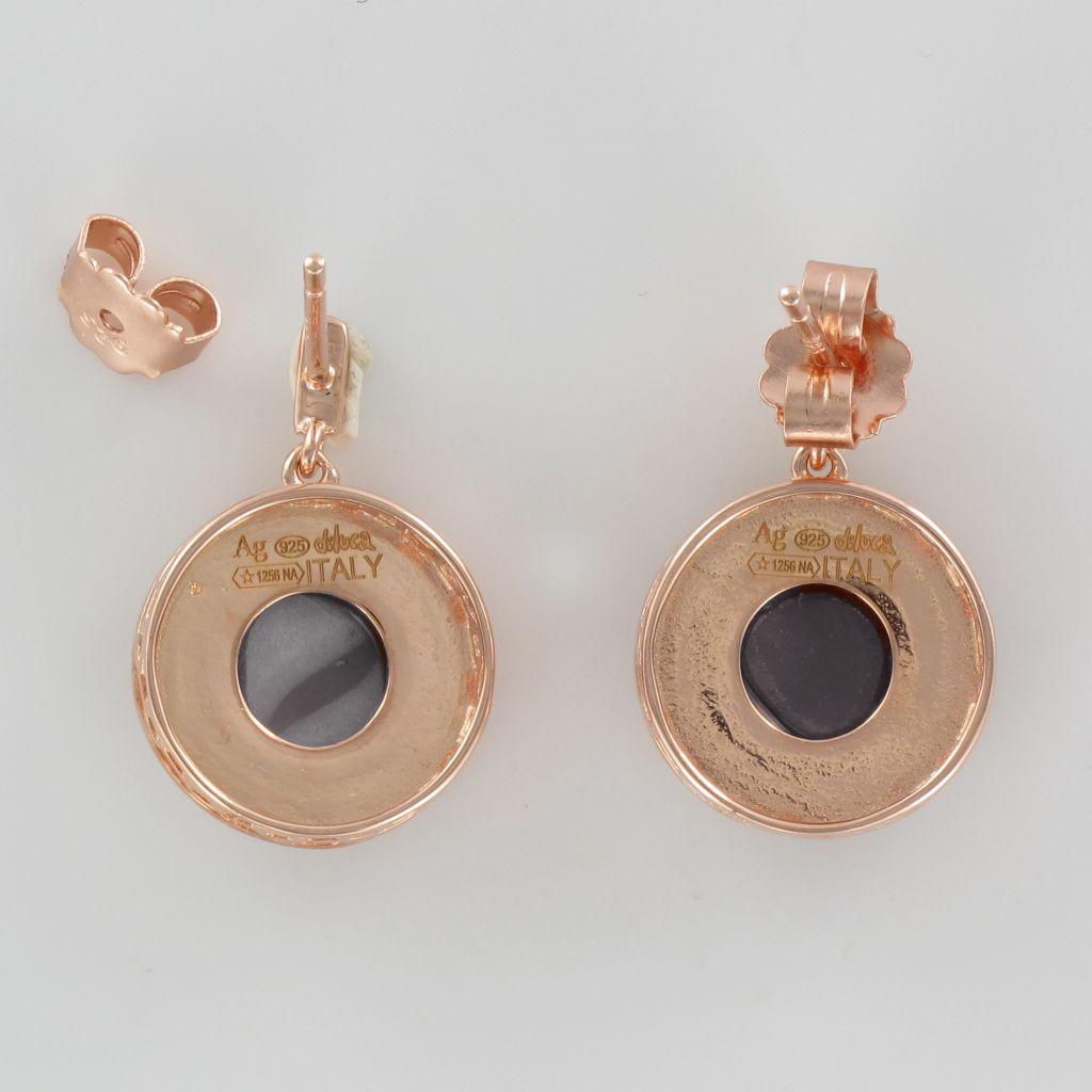 Boucles d\'oreilles camée cupidon et cristaux