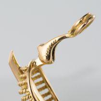 Boucles d\'oreilles clips feuilles d\'or