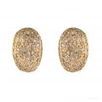 Boucles d\'oreilles diamants bombées