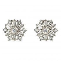 Boucles d\'oreilles diamants flocons