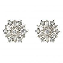 Boucles d\'oreilles diamants flocons