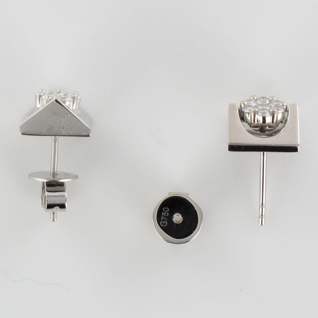 Boucles d\'oreilles diamants géométriques