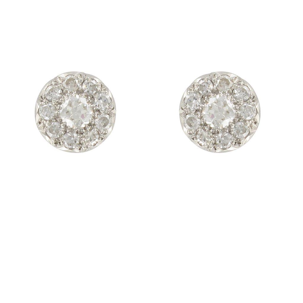 boucles d 39 oreilles diamants puces boucle d 39 oreille. Black Bedroom Furniture Sets. Home Design Ideas