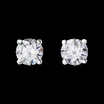 Boucles d\'oreilles diamants puces