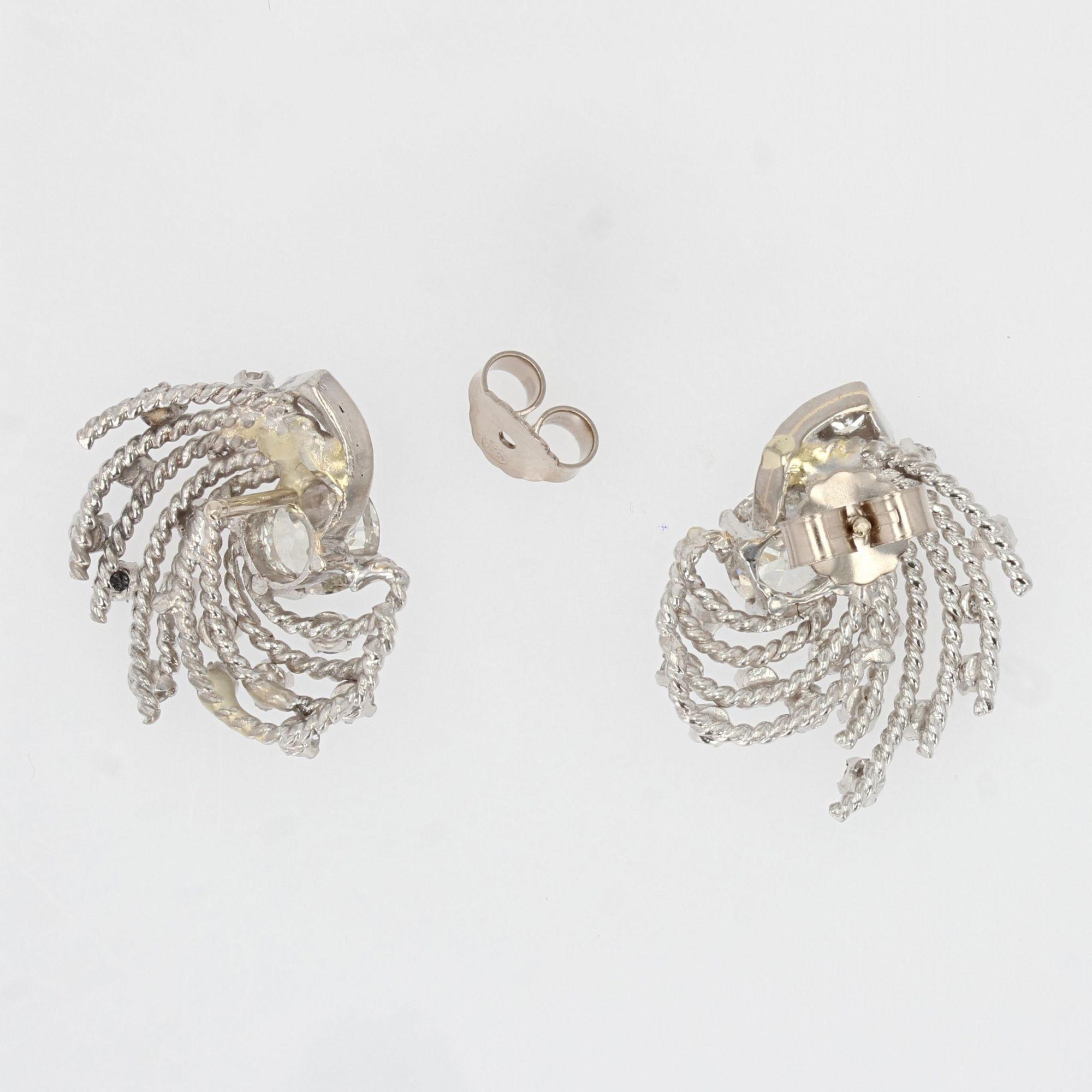 Boucles d\'oreilles diamants rétro