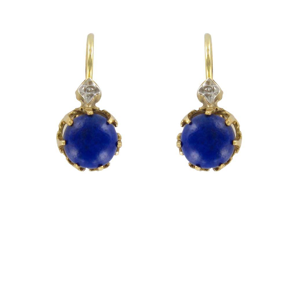 Boucles d\'oreilles dormeuses lapis lazuli