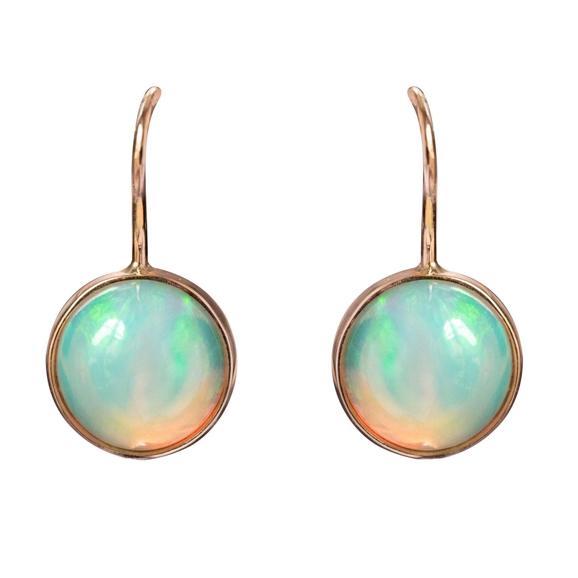 Boucles d\'oreilles dormeuses opales