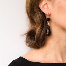 Boucles d\'oreilles écailles cloutées d\'or