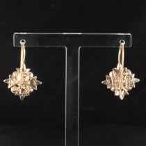 Boucles d\'oreilles flocon perles
