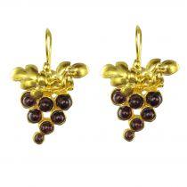 Boucles d\'oreilles grappe de raisin