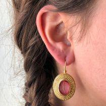 Boucles d\'oreilles intailles décor ciselé