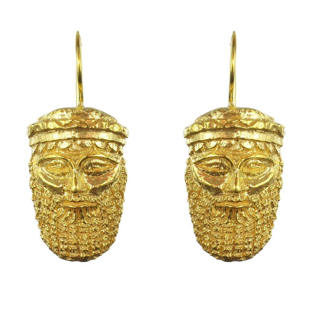 Boucles d\'oreilles masque antique