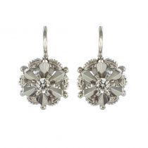 Boucles d\'oreilles or blanc diamant