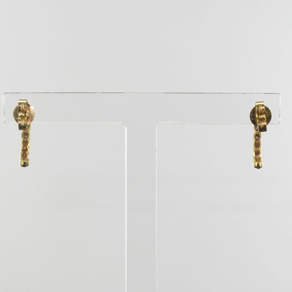 boucles d 39 oreilles or jaune et diamants cr ole diamant. Black Bedroom Furniture Sets. Home Design Ideas