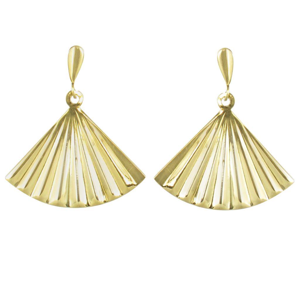 boucles d 39 oreilles or jaune ventail bijoux or bijouxbaume. Black Bedroom Furniture Sets. Home Design Ideas